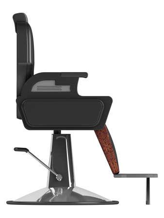 visagiste: Black hairdressing salon chair isolated on white background