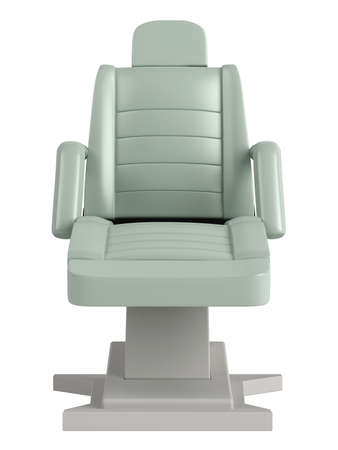 Light green beauty chair isolated on white background Stock Photo