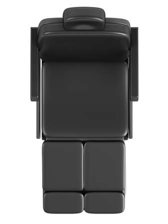 Black beauty chair isolated on white background photo