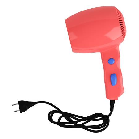 drier: Red hair dryer isolated on white background