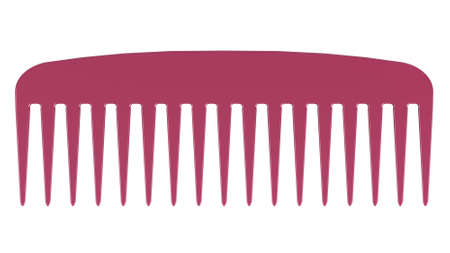 hairbrush: Pink comb isolated on white background