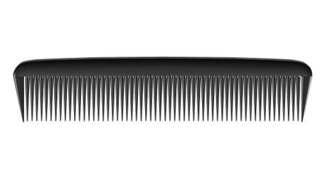 combing: Black comb isolated on white background