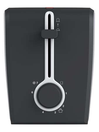 Black and white toaster isolated on white background photo