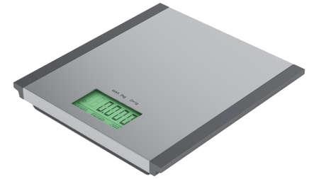 Food scales machine isolated on white background photo
