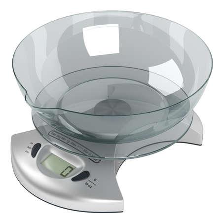 kilo: Food scales five kilo isolated on white background Stock Photo
