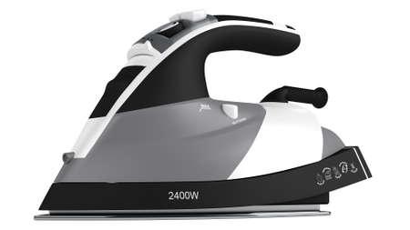 flat iron: Black flat iron  electric isolated on white background