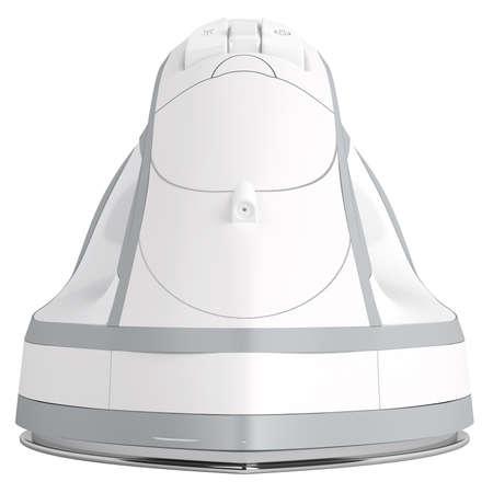 flat iron: White flat iron isolated on white background