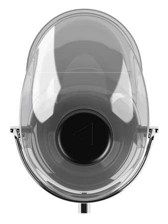 extractor: Metallic juice extractor isolated on white background