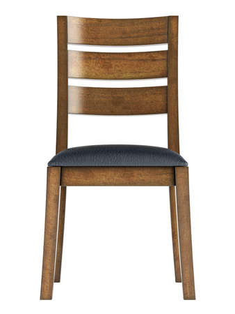 Antique wooden chair isolated on white background