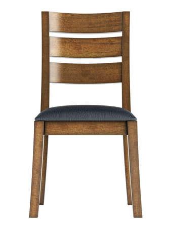 silla de madera: Silla de madera antiguo aislado sobre fondo blanco