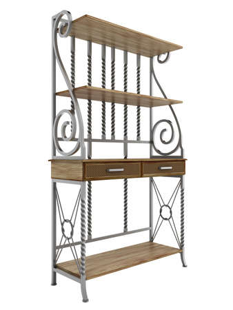 Antique bakers rack isolated on white background Stock Photo - 14287760