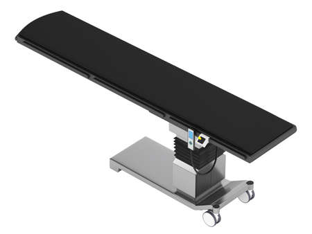 operating: Hydraulic operating table isolated on white background Stock Photo