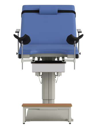 gynecological: Gynecological chair isolated on white background Stock Photo