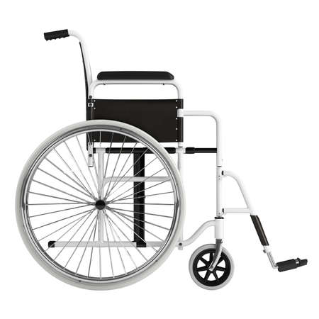wheel chair: Wheel chair isolated on white background Stock Photo