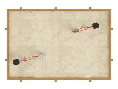 sandbox: Sandbox isolated on white background