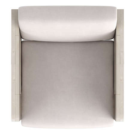 upholstered: Modern wooden framed armchair with upholstered cushions isolated on a white background