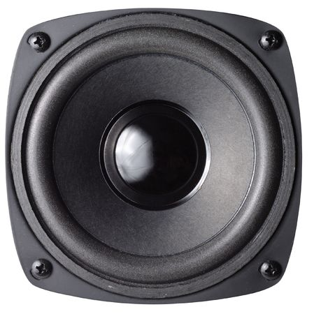 loud speaker: Black loud speaker with clipping path isolated over white background
