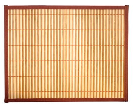 Woven bamboo table-cloth isolated with clipping path over white background