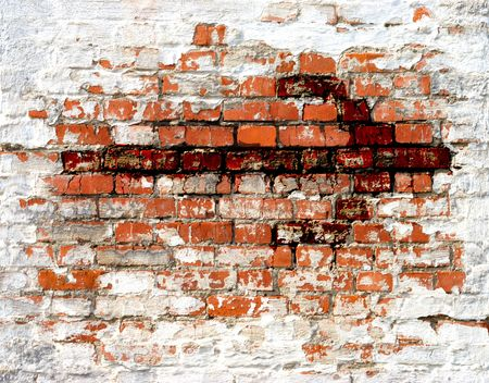 Bloody arrow over old brick wall photo