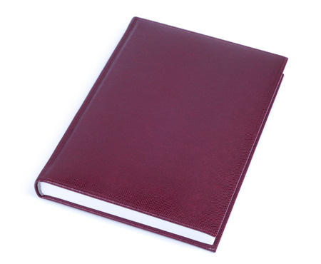 todo: Brown leather covered book isolated over white background
