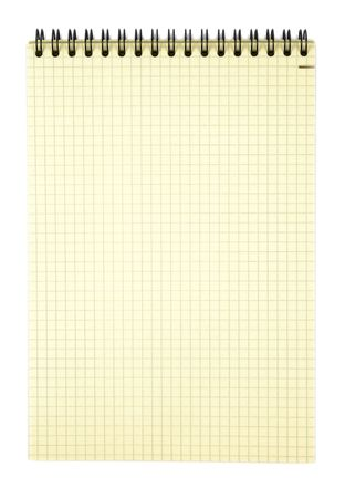 bind: Spiral notebook isolated  Stock Photo
