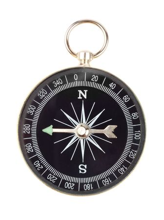 oriented: Old west oriented compass isoated over white