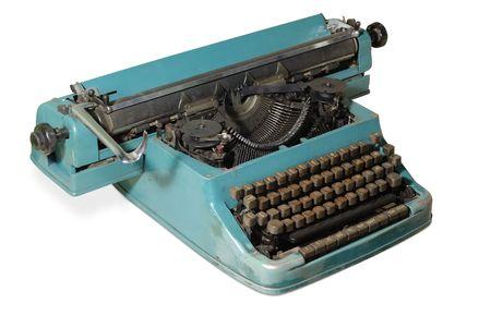 Old typewriter isolated  photo