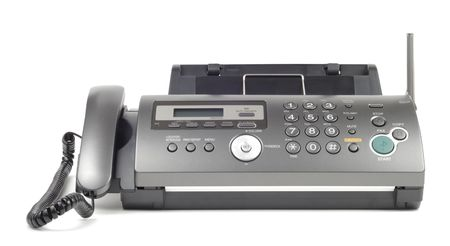New style wireless fax isolated over white background