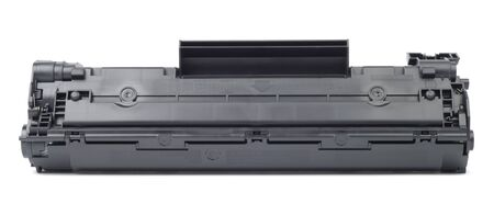 New plastic black cartridge isolated over white