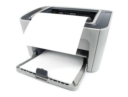 fotocopiadora: Impresora con cero aislado en blanco
