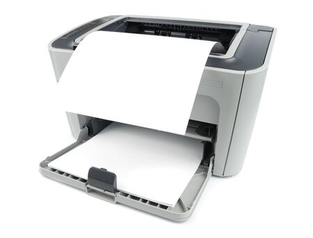 photocopy: Printer with clean sheet isolated over white