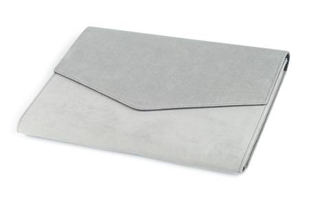 Laptop case isolated with path over white background