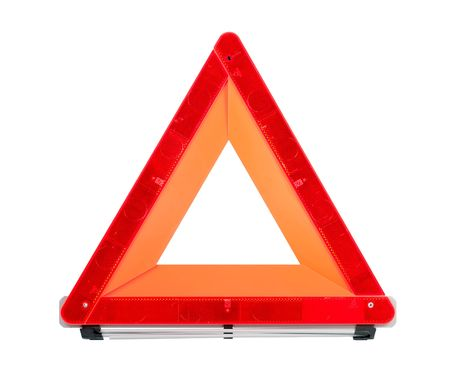Car emergency sign isolated