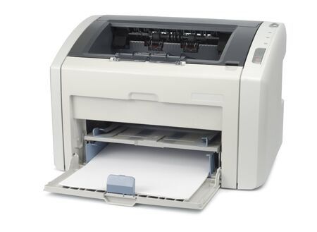 Office printer with paper  Stock Photo