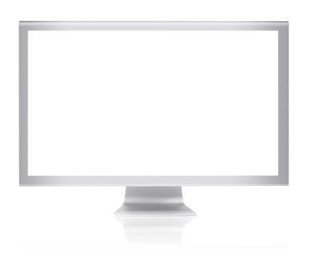 Metallic  monitor with flat-screen panel isolated