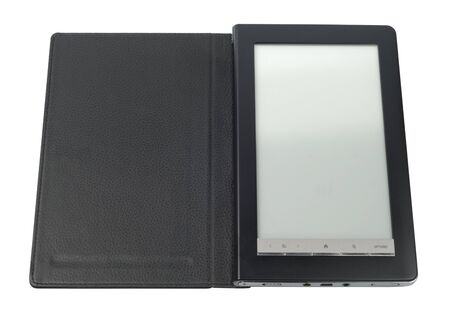 Black E-Book with case isolated over white background. Stock Photo - 8305928