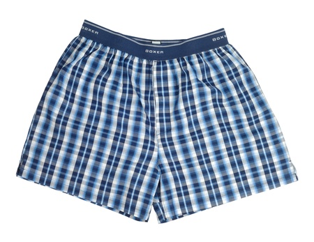 Blue briefs boxers isolated