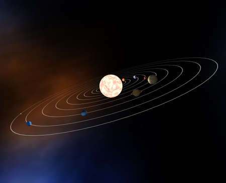 offset view: Diagram of the planets in the Solar System