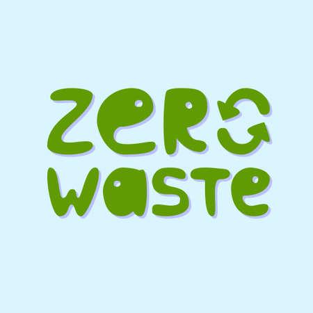 Concepción de residuos cero Ilustración de vector
