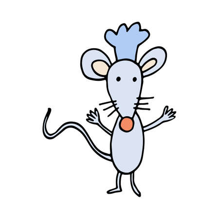 Mouse Chef with Hat. Illustration Vector of a Mouse Cooker Illustration