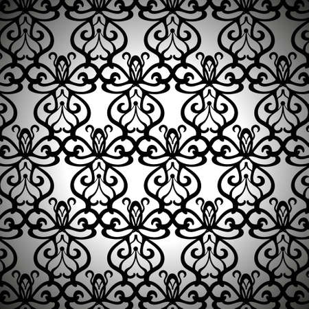 forged: Elaborate Black Forged Pattern Illustration