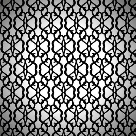 Forged Seamless Pattern on White Background Çizim
