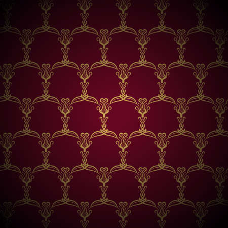 royal background: Royal Golden Pattern on Purple Background Illustration