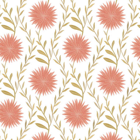 country style: Seamless flower pattern in country style Illustration