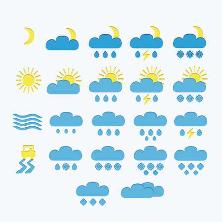 minimalistic: Set of Minimalistic Weather Icons Illustration