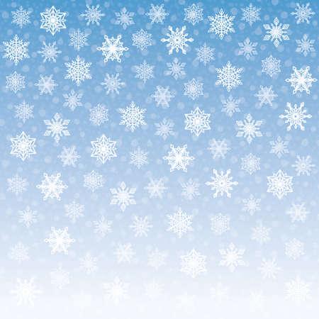 white christmas: Tender Sneeuwvlokkenachtergrond Stock Illustratie