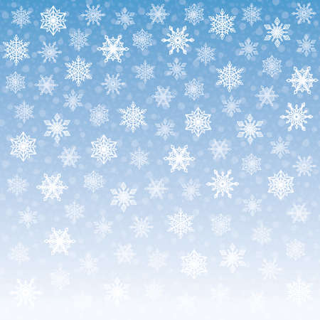 blue backgrounds: Tender Snowflakes Background