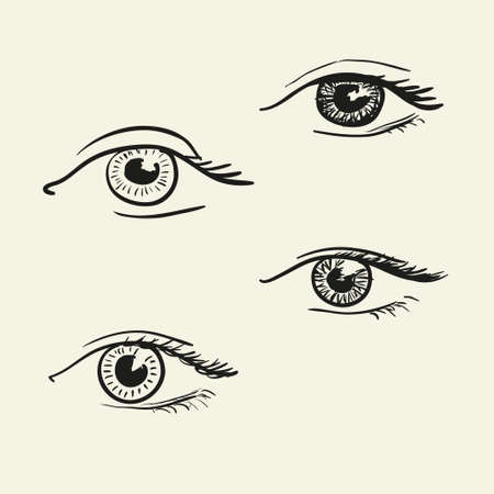 Hand-drawn eyes