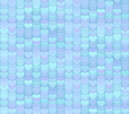 corazones azules: Luz Tender corazones azules de fondo sin fisuras patr�n Vectores
