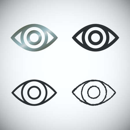 ojos: Conjunto de iconos de ojo sobre fondo claro